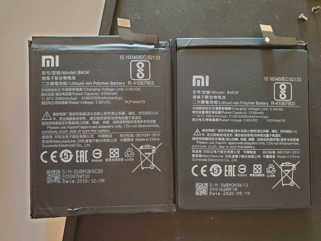 Oryginalne baterie Xiaomi