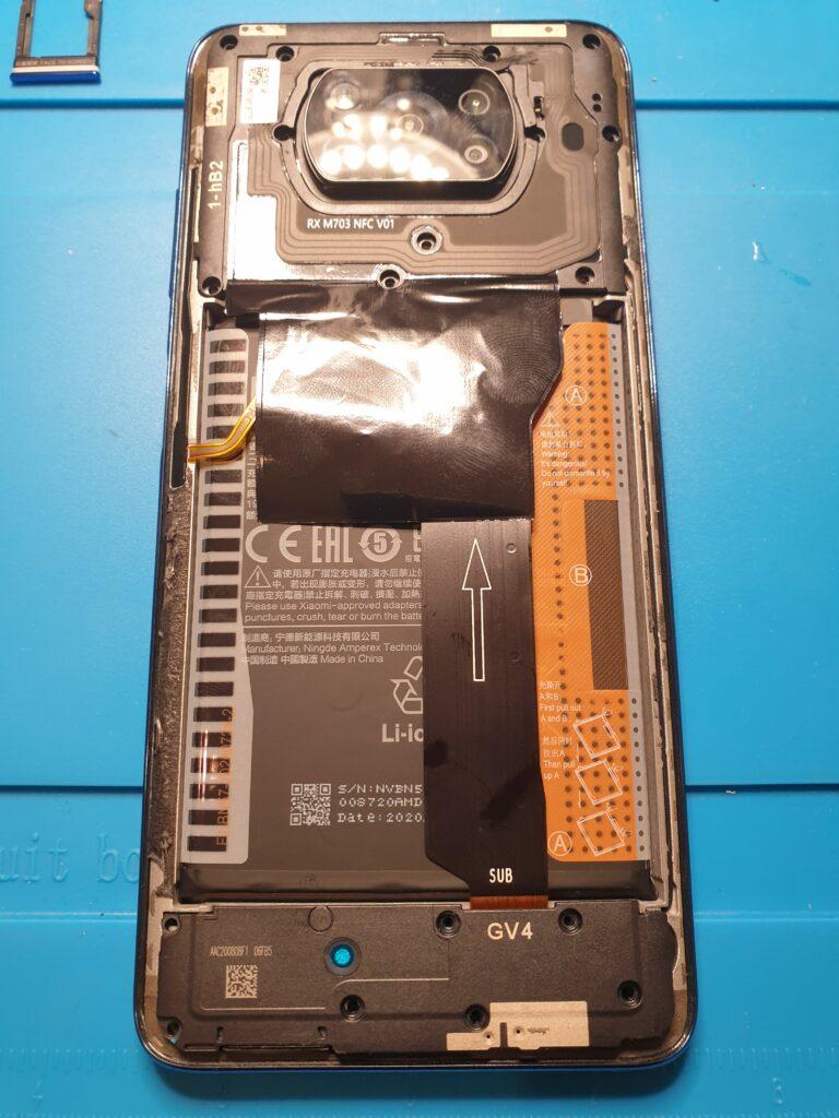 Poco X3 NFC widok od środka