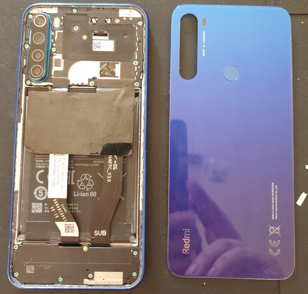Redmi Note 8T bateria i płyta główna