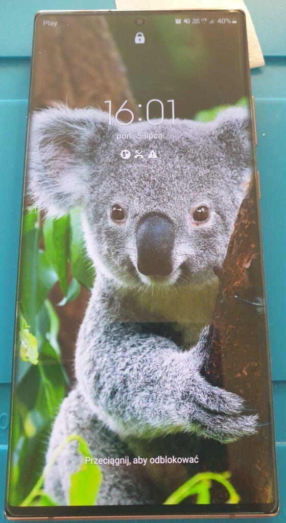 Samsung Note 20 Ultra 5G pęknięta szybka