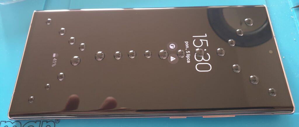 Samsung Note 20 Ultra Aplikacja szkła UV