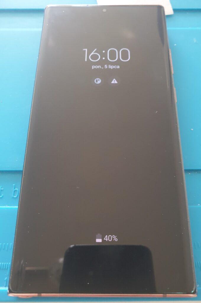 Samsung Note 20 Ultra ze szkłem UV